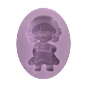 Molde de muñequita con sombrero y mandil